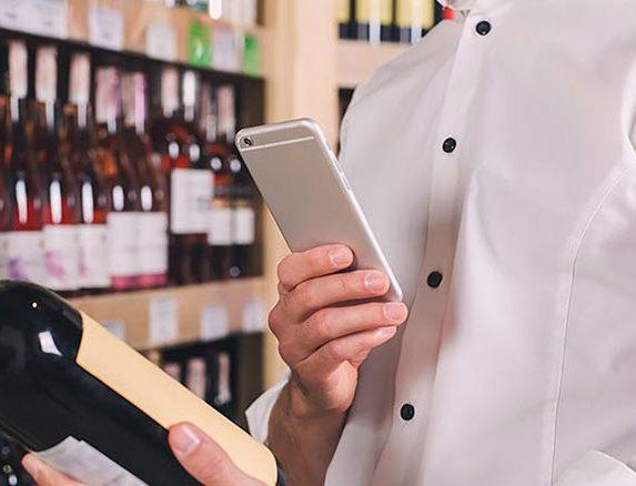 application téléphone vin homme