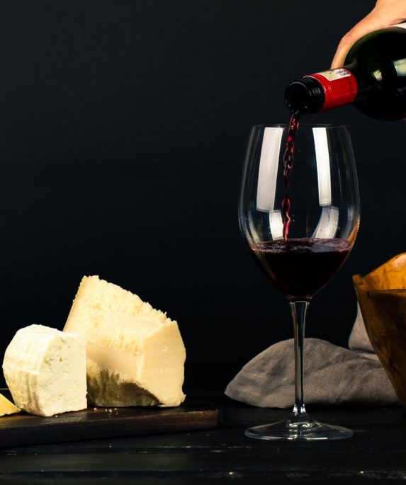 verre bouteille vin fromage