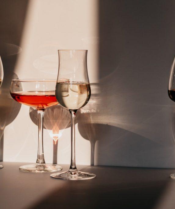 verres de vin alcool